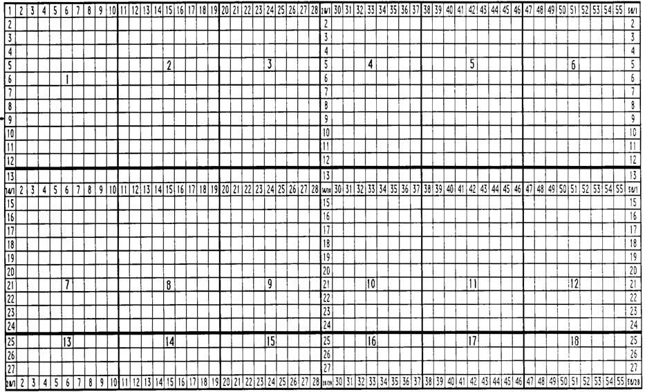 Drawing your map on the grid darken the grid lines that separate the map into 18 sections number the section 1 18 as marked on the sheets themselves gumiabroncs Images