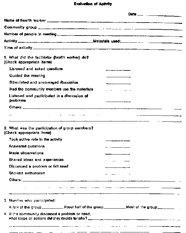 Session 52 Trainer Attachment 52A Sample evaluation forms