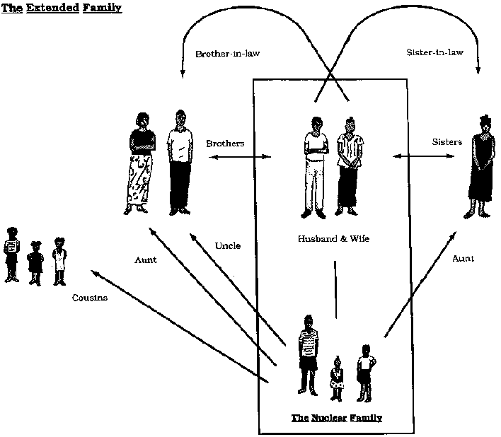 nuclear and extended family