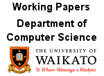 Working Papers, Dept of Computer Science, University of Waikato